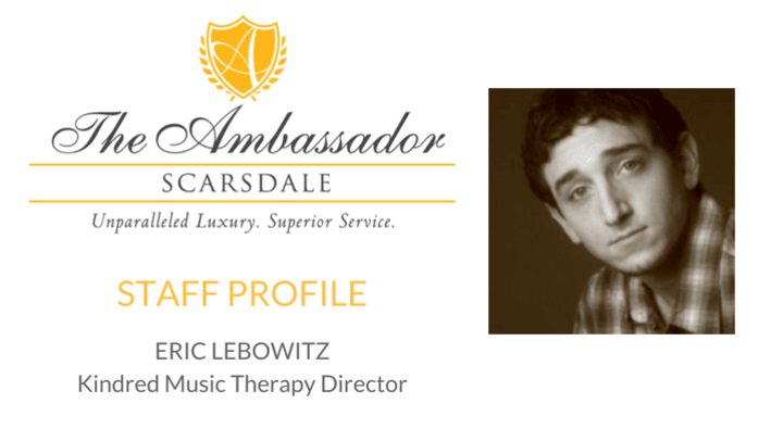 Eric Lebowitz — our Kindred Music Therapy Director